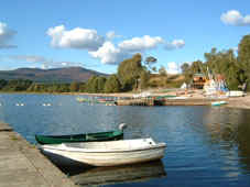 Loch Insh offers a choice of  watersports. orienteering and dry slope ski-ing throughout the year.  A restaurant is also available